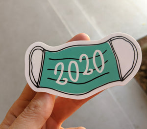 Sticker: Social Distancing Mask 2020