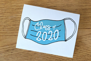 Our #1 Best Selling Greeting Card: Social Distancing Graduation Class of 2020