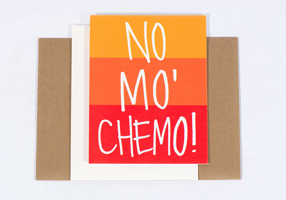 Our #2 Best Selling Greeting Card: No Mo' Chemo
