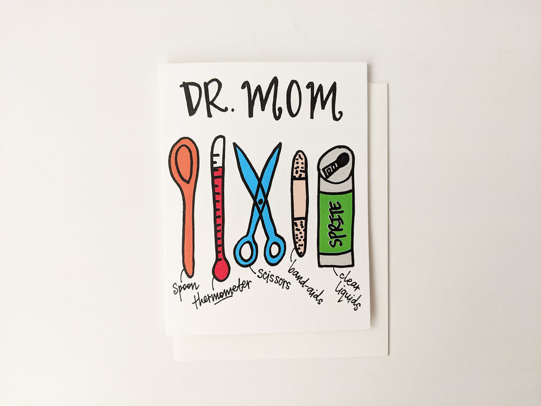 Greeting Card: Dr. Mom