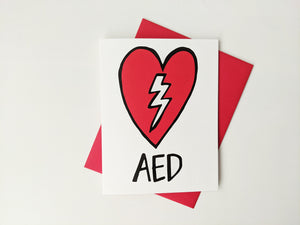 Greeting Card: AED