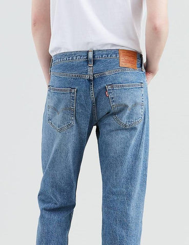 Levis 501 Original-Fit Jeans (Straight Leg) - Baywater / Medium Blue
