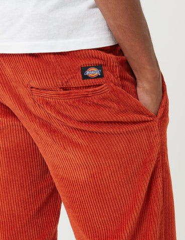 Dickies Clover Pant (Cord) - Rust Red