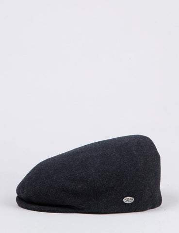 Bailey Herr Solid Flat Cap - Anthrazitfarbene