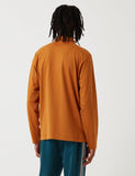 Stussy Dillon Langarm-Polo-Shirt - Rust Red