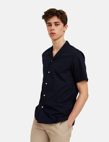 Wood Wood Brandon Shirt - Marine-Blau