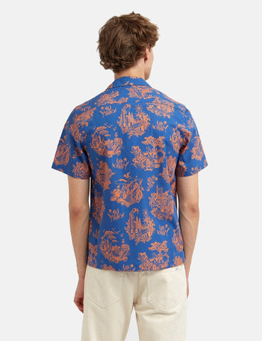 Wood Wood Brandon Shirt - Tourist Blau
