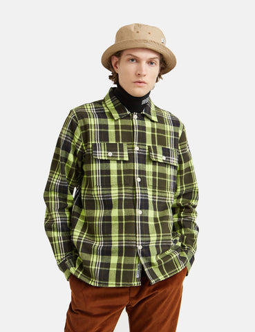 Wood Wood Franco Flanellhemd - Green Check