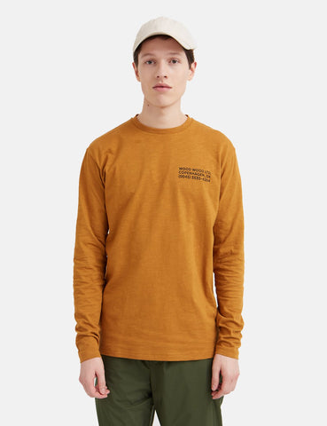 Wood Wood Peter Long Sleeve T-Shirt (Organic Cotton) - Senf