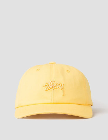 Stussy Tonal Stock Low Cap - Yellow