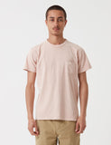 Velva Sheen Pigment gefärbt USA Made T-Shirt (Pocket) - Pink