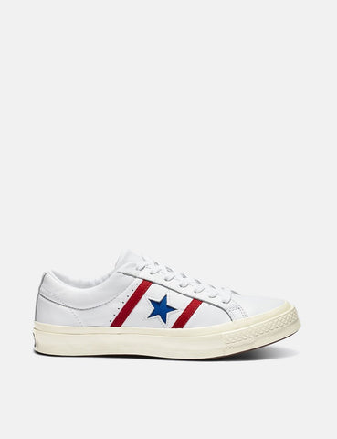 Converse One Star Academy Low Top (164390C) - Weiß / Emaille-Rot / Blau