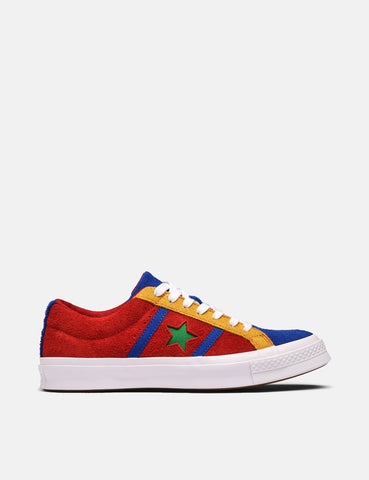 Converse One Star Academy Low Top (164393C) - Emaille-Rot / Blau / Weiß