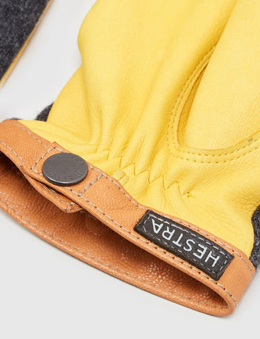 Hestra Tricot Deerskin Wollhandschuhe - Natural Yellow