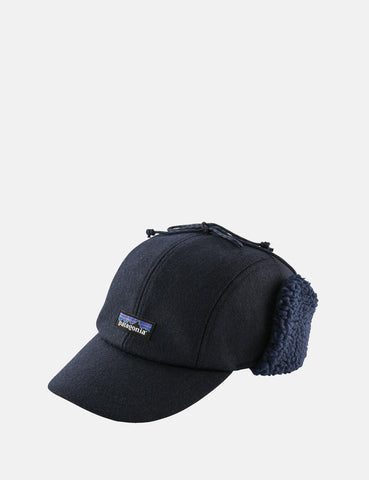 Patagonia Recycled Wool Ear Flap Cap - Klassisches Marine-Blau