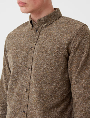 Levis Made & Crafted Standard-Shirt - Brown Donegal