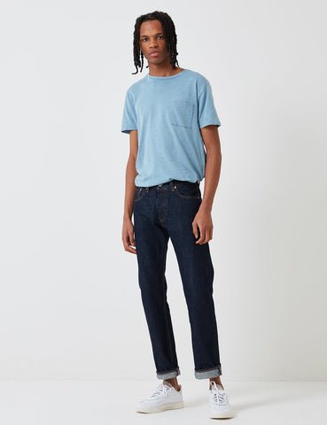Levis Made & Crafted Taschen-T-Shirt - Faded Indigo