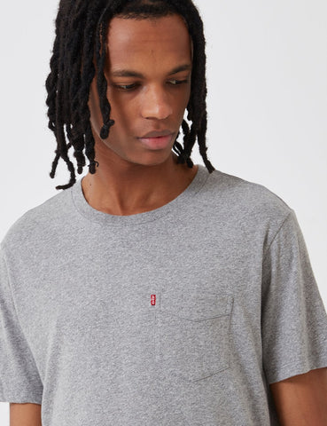 Levis Sunset Taschen-T-Shirt - Medium Grey Heather