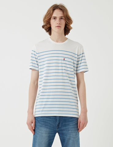 Levis Sunset Taschen-T-Shirt (Stripe) - Supima Eibisch / Allure Stripe