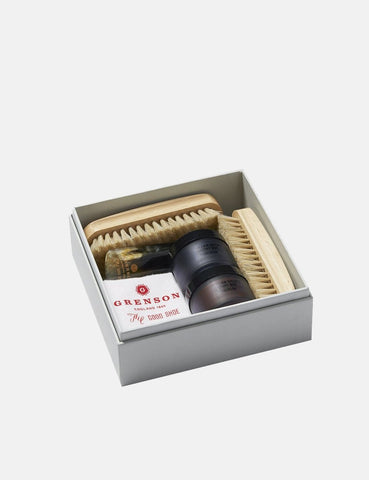 Grenson William Green Wax Kit - Schwarz / Tan