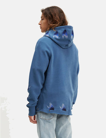 Levis Made & Crafted Ungesäumte Hoodie - Moonlight Blau