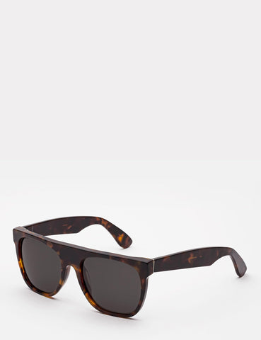 Super Flat Top Sonnenbrille - Havana Brown