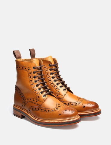 Grenson Fred Kalb Brogue Boot - Tan
