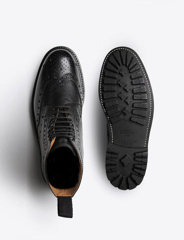 Grenson Fred Commando Sole Boot - Schwarz