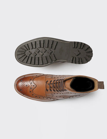 Grenson Fred Commando Sole Boot - Tan