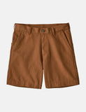 "Stehen Patagonia Up Shorts (7"" ) - Earthworm Brown"