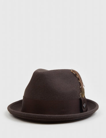 Bailey Tino Felt Knautschbar Trilby-Hut - Brown