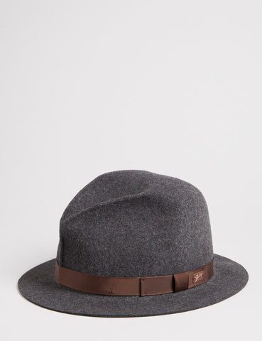Bailey Dean Unstructured Fedora - Charcoal Grey