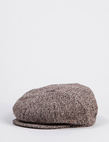 Bailey Galvin Tweed Newsboy Cap - Braun