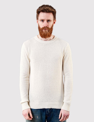 Gant Rugger Strukturierter Knit Jumper - Cream