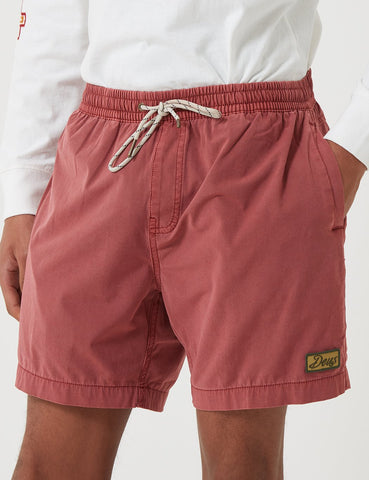 Deus Ex Machina Sandbar Fest Garment Dye Shorts - Red Ochre