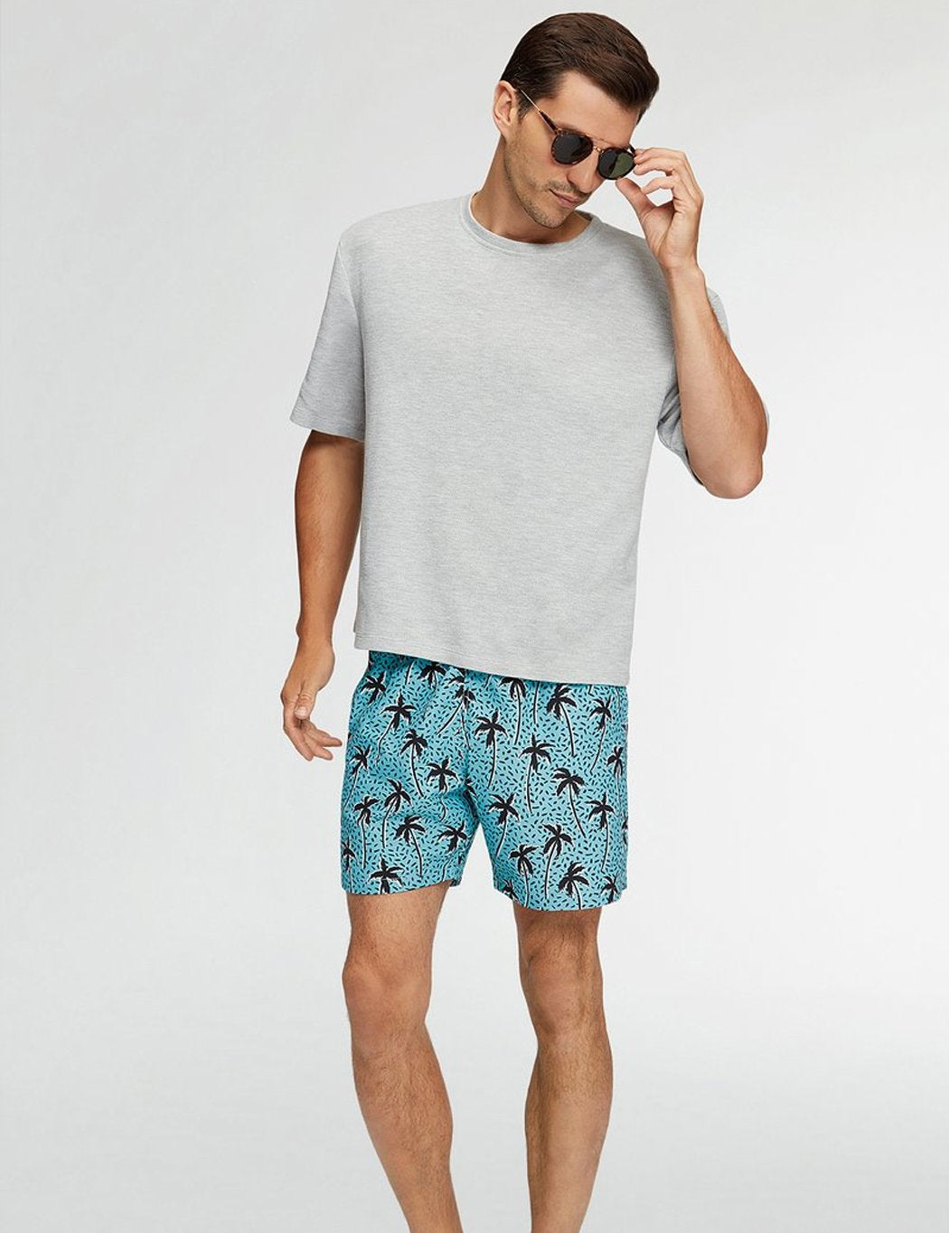 Boardies Flair Palm Badeshorts (Mid-Länge) - Blau