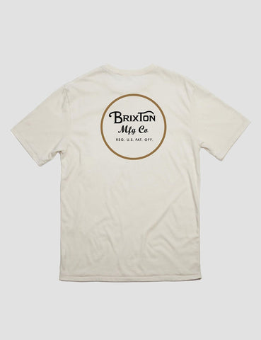 Brixton Wheeler II Premium T-Shirt - Off White