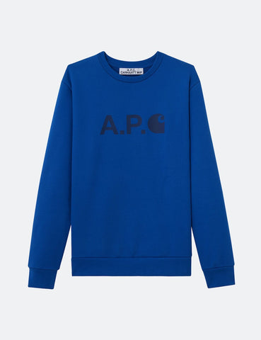 Carhartt-WIP x A.P.C. Ice Sweatshirt - Royal Blue