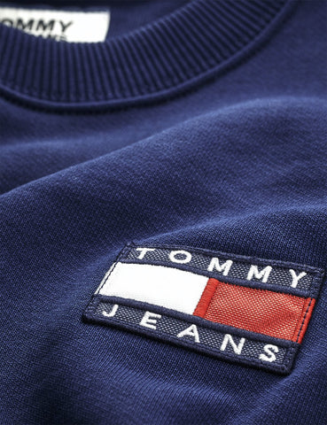 Tommy Jeans Badge Logo Sweatshirt - Black Iris / Navy