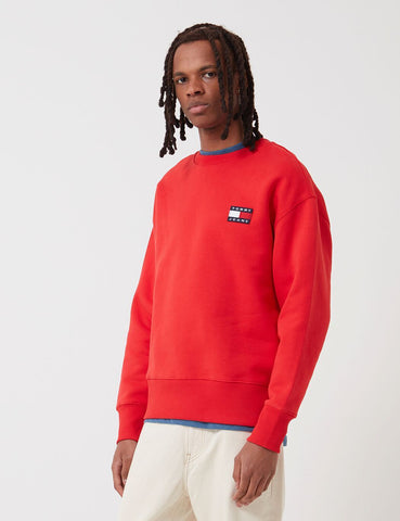 Tommy Jeans Badge Logo Sweatshirt - Deep purpurnen