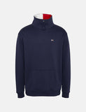 Tommy Jeans Solide Mock Neck Sweat - Black Iris / Marineblau