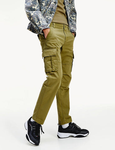Tommy Jeans Gerade geschnittene Cargo Pant (Stretch Cotton) - Uniform Olive