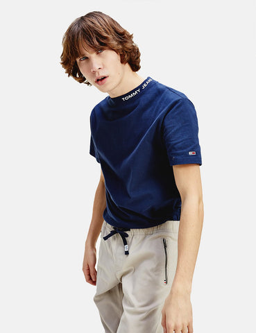Tommy Jeans High Neck T-Shirt - Twilight-Navy