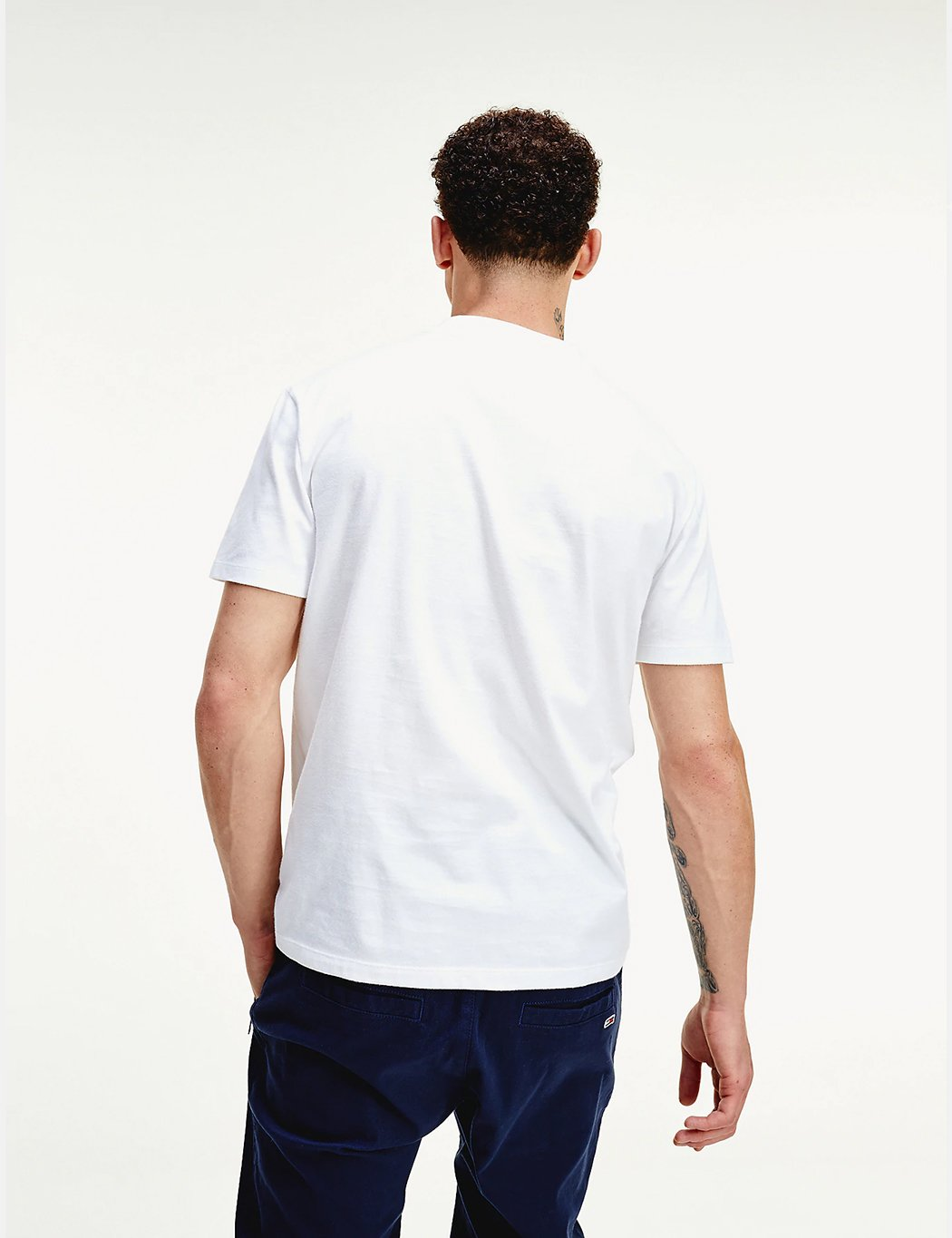Tommy Jeans High Neck T-Shirt - Weiß