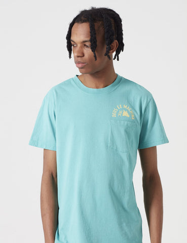 Deus Ex Machina sunbleached Impermanence T-Shirt - Lagoon Blue