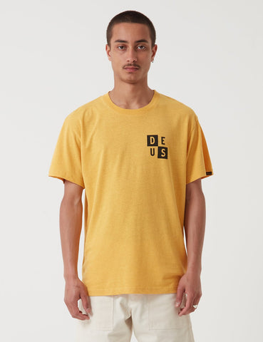 Deus Ex Machina De Niro T-Shirt - Mineral Yellow
