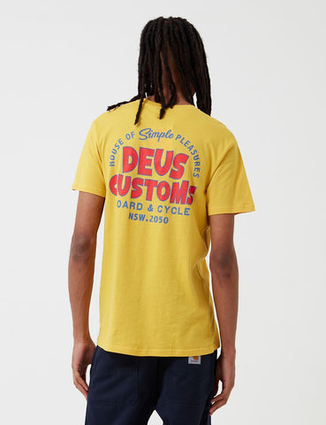 Deus Ex Machina Simpli-Stadt-T-Shirt - Super Lemon
