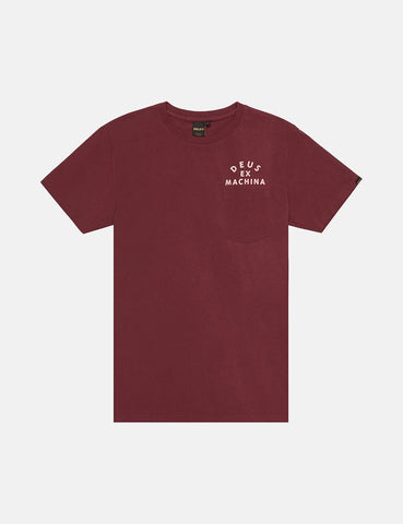 Deus Ex Machina Camperdown Taschen-T-Shirt - Sangria Red