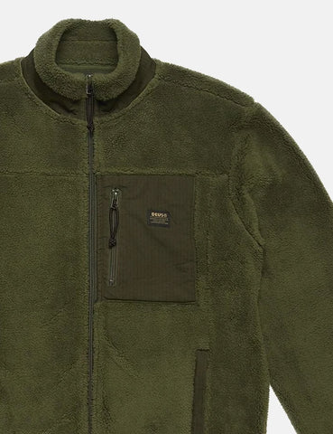 Deus Ex Machina Fletcher Fleece-Jacke - Forest Green