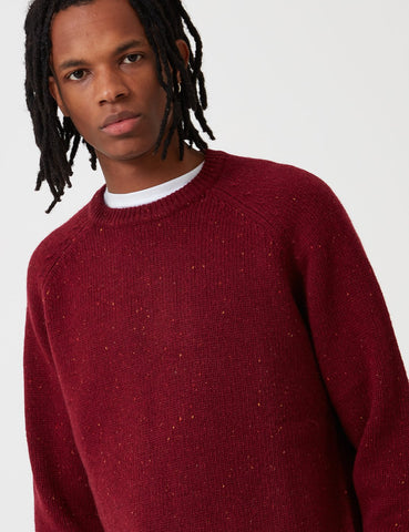 Carhartt-WIP Anglistik Wolle Sweatshirt - Mulberry Heather